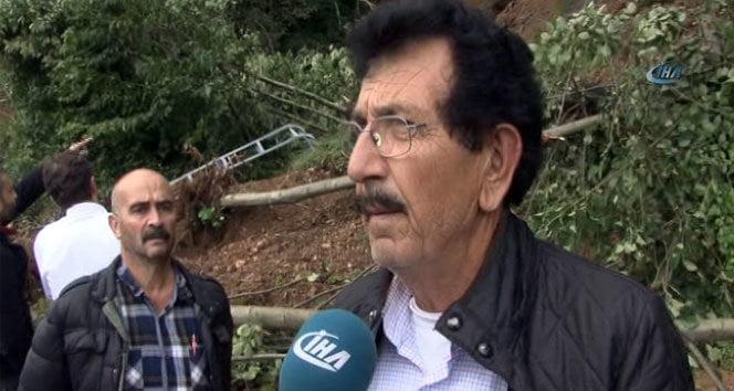 Rize'deki sel felaketini anlattı