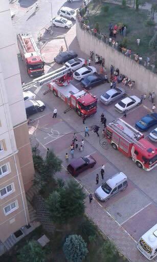 Toki Kayaşehir 7.Bölge'de yangın çıktı