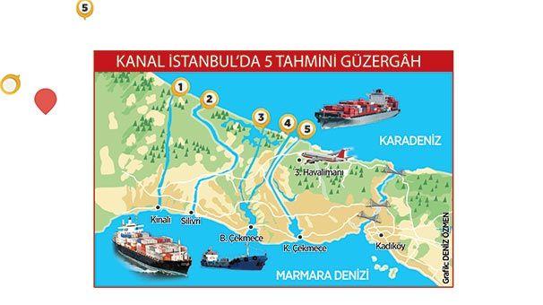Kanal İstanbul'un güzergahı Yılan Hikayasi Oldu