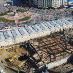 Taksim Camii'nin son durumu havadan