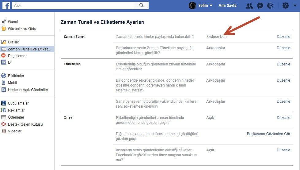 Facebook'ta duvarıma yazı yazılmasın diyorsanız dikkat!