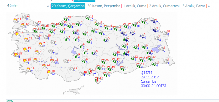 Meteoroloji Genel Müdürlüğü & AKOM kuvvetli yağış, yoğun kar uyarısı!