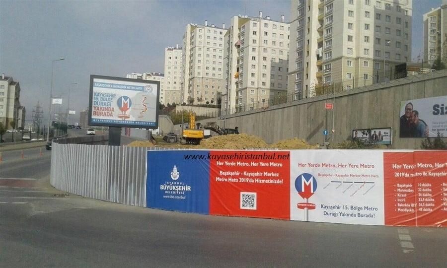 Kayaşehir metrosu için şantiyeler kuruluyor