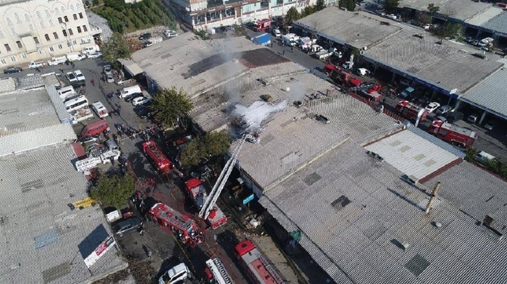 Başakşehir sanayi sitesinde yangın çıktı