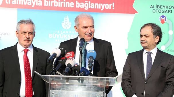 Eminönü-Eyüpsultan-Alibeyköy tramvay hattını 2018 sonunda bitirmeyi planlıyoruz