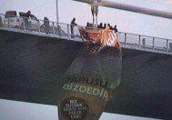 15 Temmuz Şehitler Köprüsü'Köprüye'Kudus İslam'ındır' yazılı dev pankart