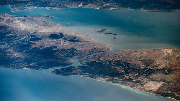 Uzaydan İstanbul Boğazı