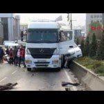 Başakşehir'de Tanker 12 araca çarptı