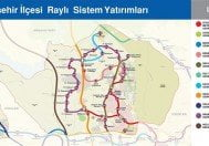 Başakşehir İlçesi Raylı Sistem Haritası