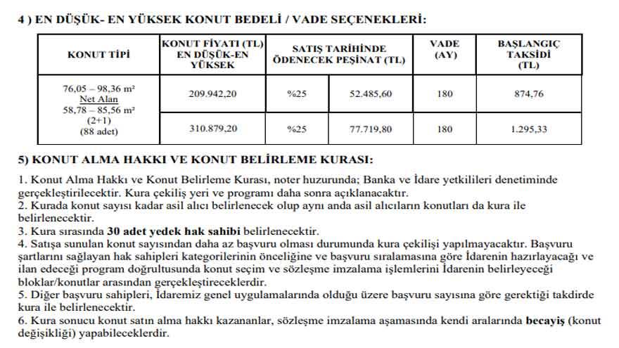 Toki İstanbul'da Ev Satışı